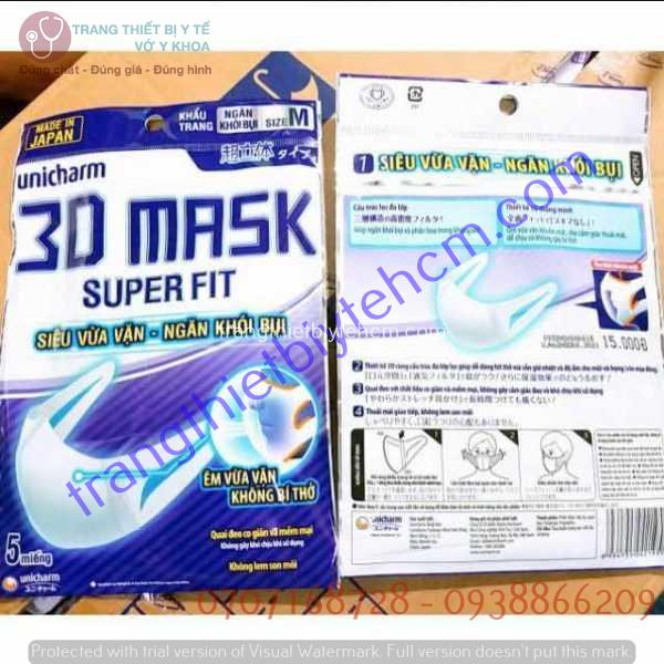 khau trang unicharm d mask super fit ngan khoi bui goi cai