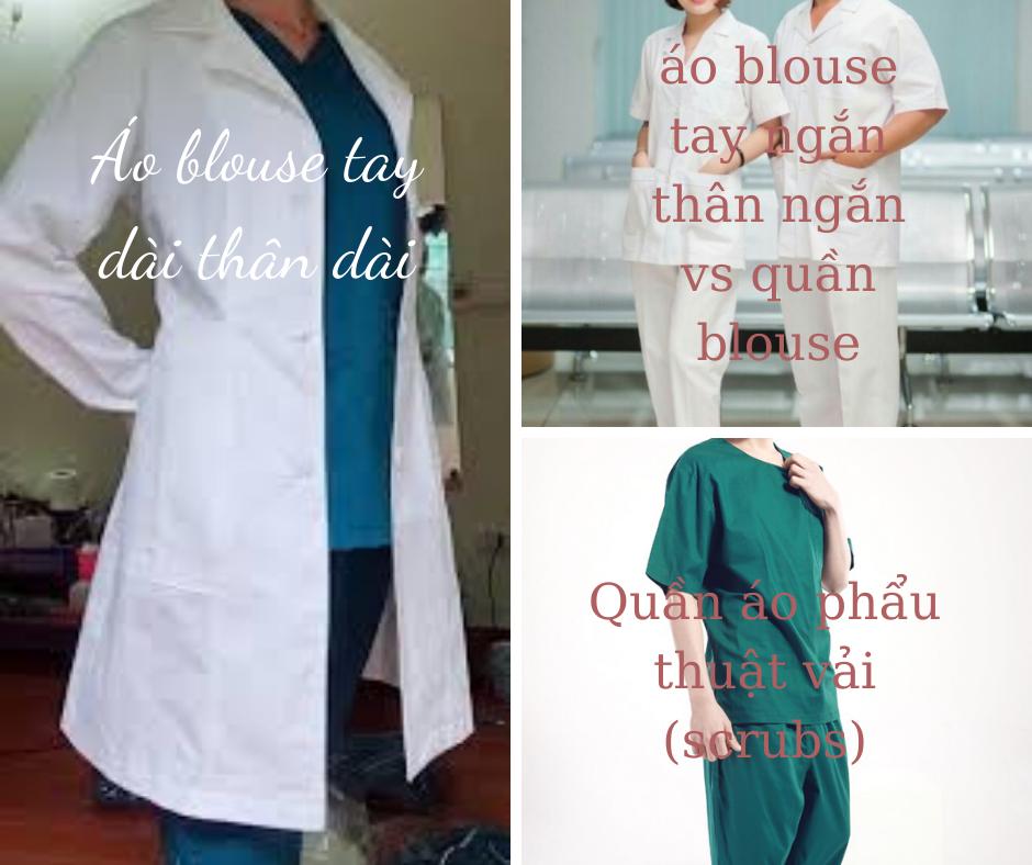 áo blouse và áo phẩu thuật vải