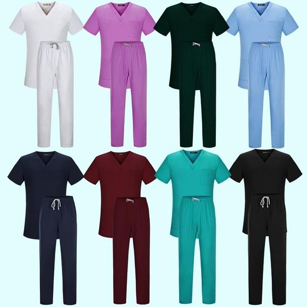 trang phục y tế các màu khác nhau